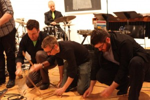 So Percussion, Bobby Previte, and Doug Perkins at the 2012 L&L. (Janette Beckman)